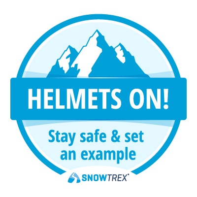 Helmets On! Stay safe and set an example.